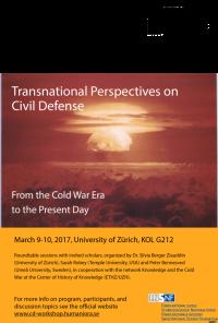 Flyer/Logos: Civil Defense Workshop am Zentrum des Wissens an der Universität Zürich